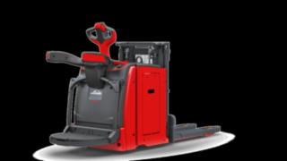 Der Hochhubwagen D10 AP von Linde Material Handling kann flexibel als Mitgänger- und fahrbares Modell eingesetzt werden.