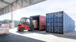 Die Containerversion des Staplers X20 - X35 von Linde