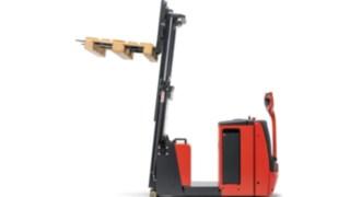 Hochhubwagen von Linde Material Handling mit neigbarem Mast