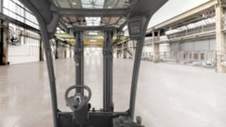 Sicht aus dem H20 - H35 Stapler von Linde Material Handling