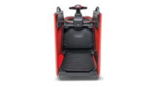 Die vollgefederte Plattform des T20-T25 FP von Linde Material Handling reduziert die Arbeitsbelastung für den Fahrer.