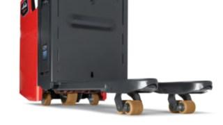 Unebenheiten werden ausgeglichen, die Stabilität des Fahrzeugs von Linde Material Handling bleibt erhalten.