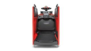 Die vollgefederte Plattform des D10 FP von Linde Material Handling reduziert die Arbeitsbelastung für den Fahrer.