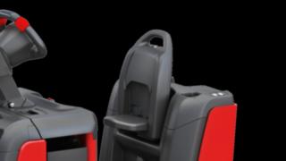 Die Rückenlehne des P40 - P60 C von Linde Material Handling kann individuell eingestellt werden.