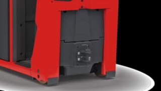 Der Elektroschlepper P40 - P60 C von Linde Material Handling kann mit einer Anhängerkupplung ausgestattet werden.