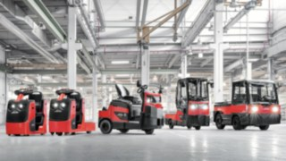 Schlepper und Plattformwagen von Linde Material Handling
