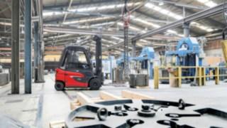 E30 von Linde Material Handling im Einsatz in der Drahtindustrie