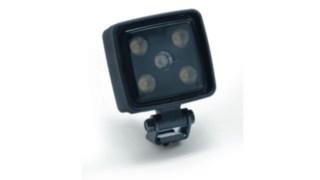 Das Bild zeigt den optional erhältlichen LED-Arbeitsscheinwerfer
