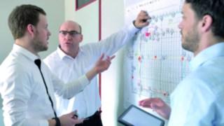 Workshop an einer Wand für den Linde Safety Scan
