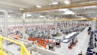 Linde Schubmaststapler werden im KION-Werk in Stříbro, Tschechische Republik, produziert.