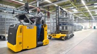 Linde Fahrzeuge im Einsatz bei der Heidelberger Druckmaschinen AG