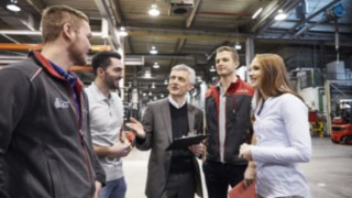 Produktionsmeeting bei Linde Material Handling
