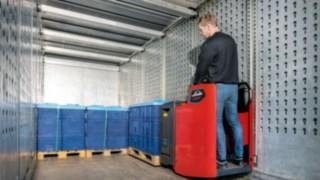 Extraschmale Fahrerstandhubwagen von Linde Material Handling