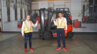 Linde Safety Guard mit interaktiver Warnweste im Einsatz